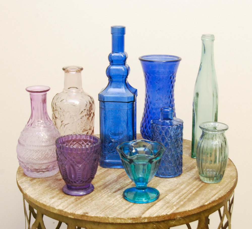 Cool Tone Glass Vessels