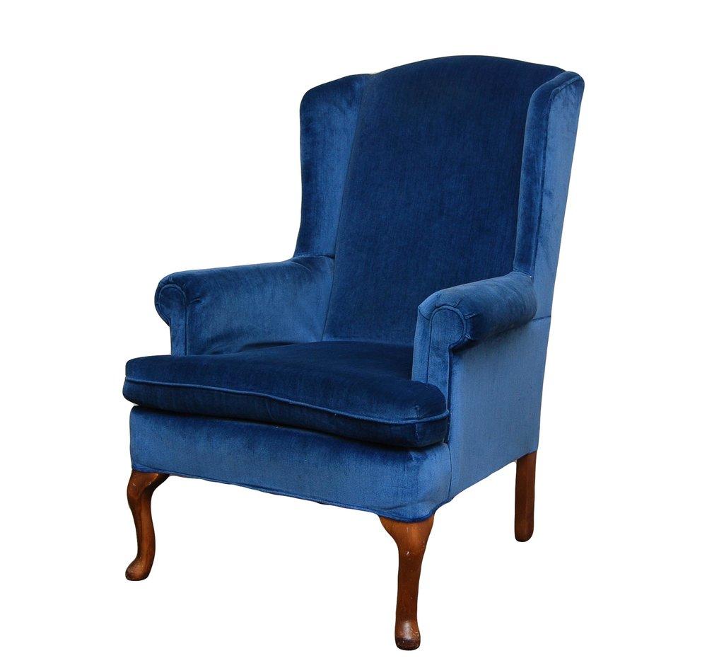 BLUE ROY-AL Arm Chair