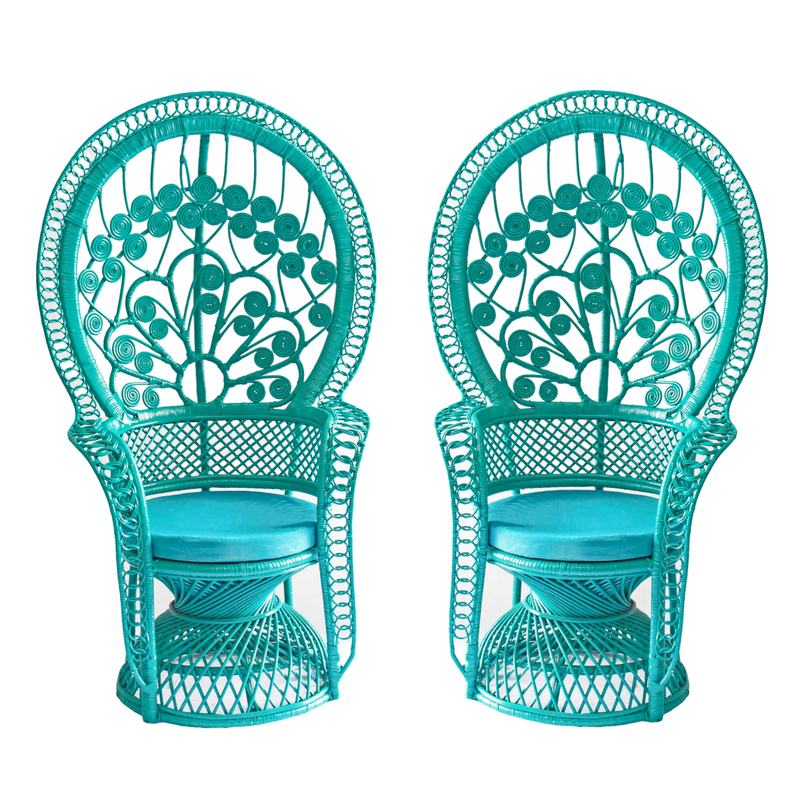 Aquafina Peacock Chairs (2)