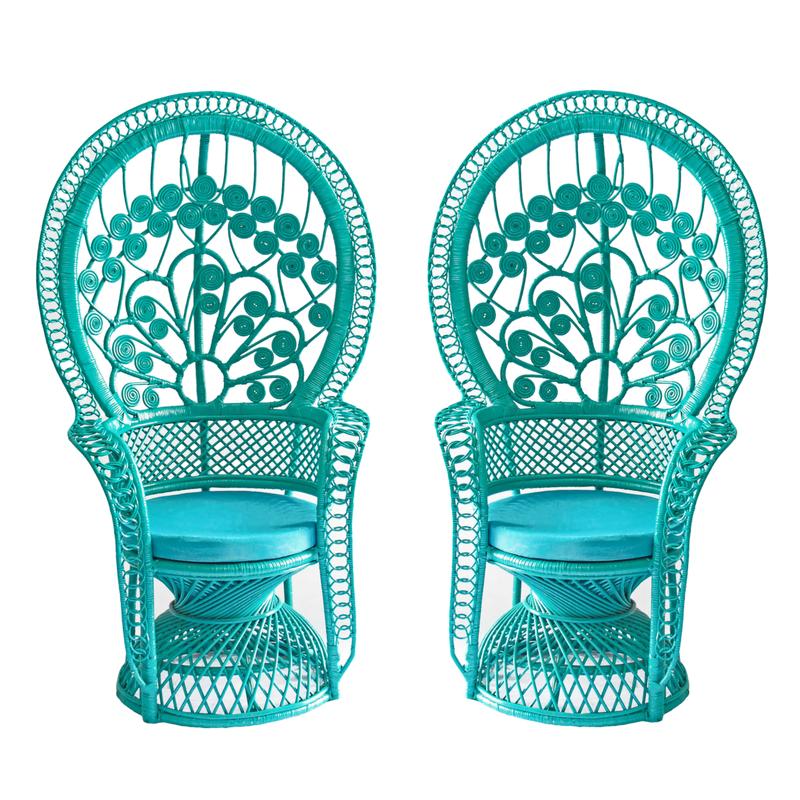 Aquafina Peacock Chairs (2)