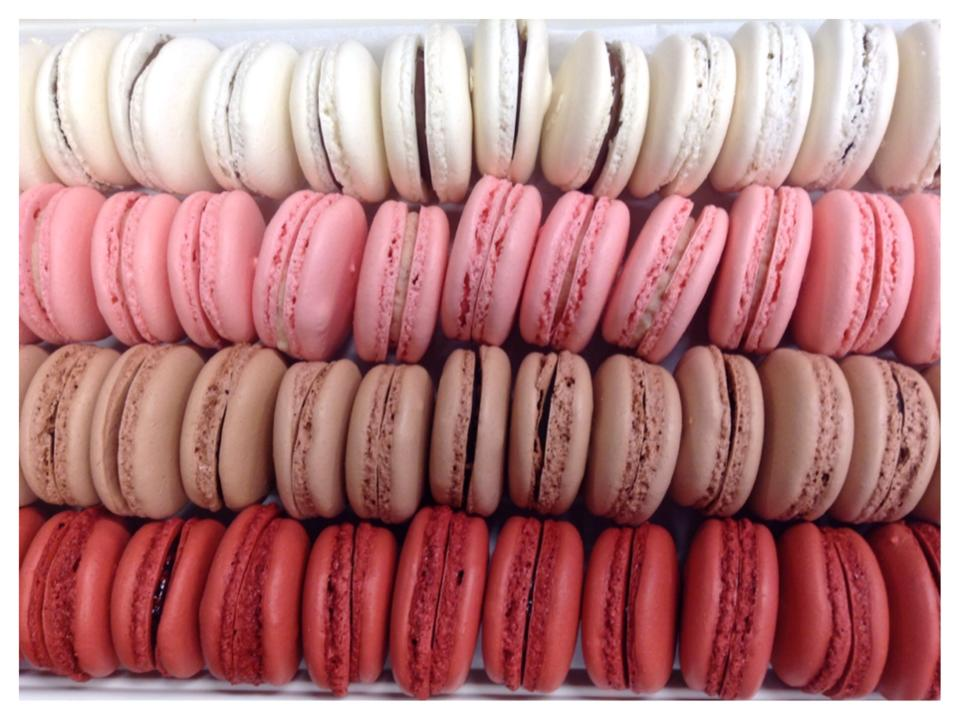 Vanilla Bean, Strawberry Cream, Milk Chocolate, And Raspberry Valentine  Macaron Special