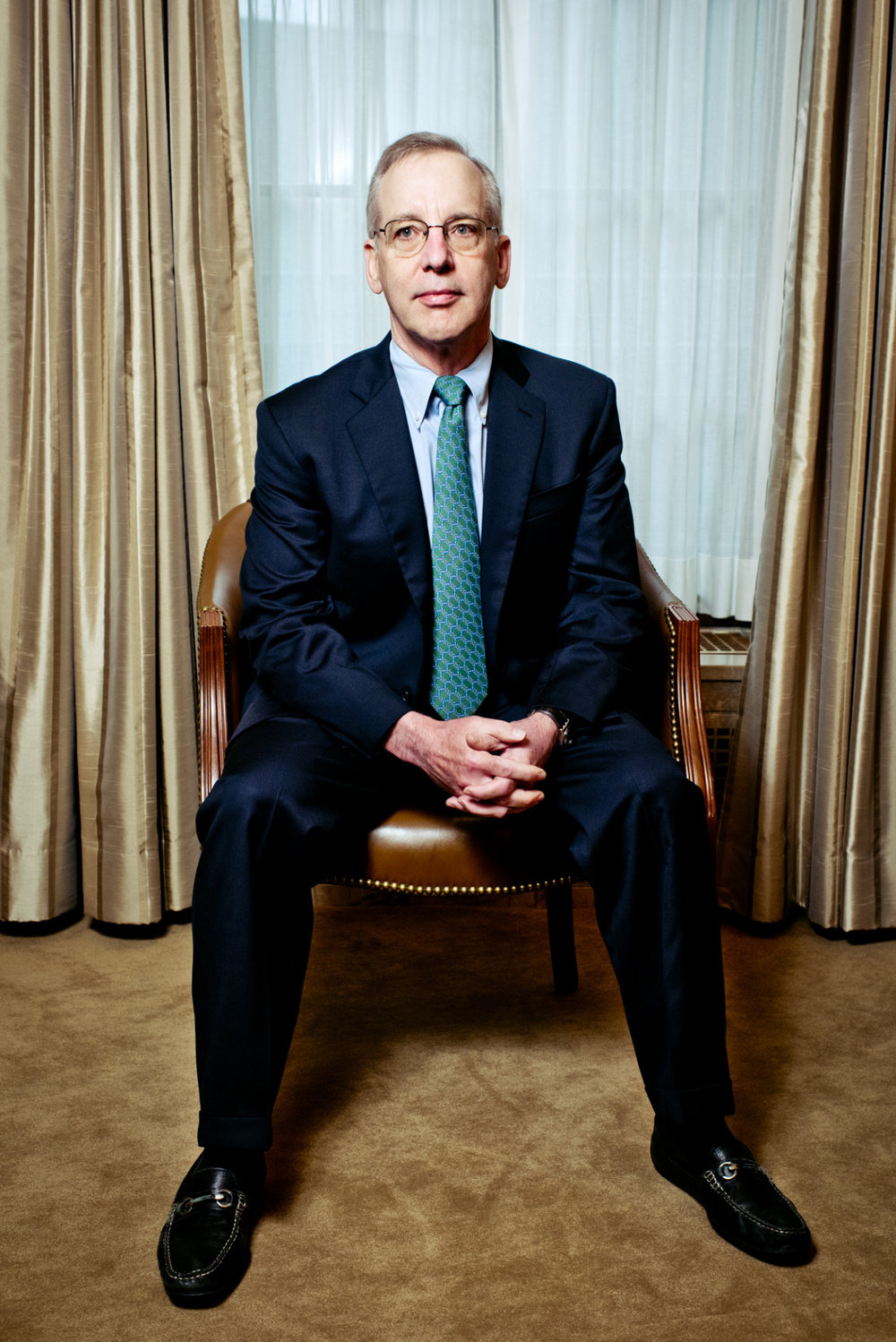 NY Federal Reserve William Dudley, shot for The New York Times.