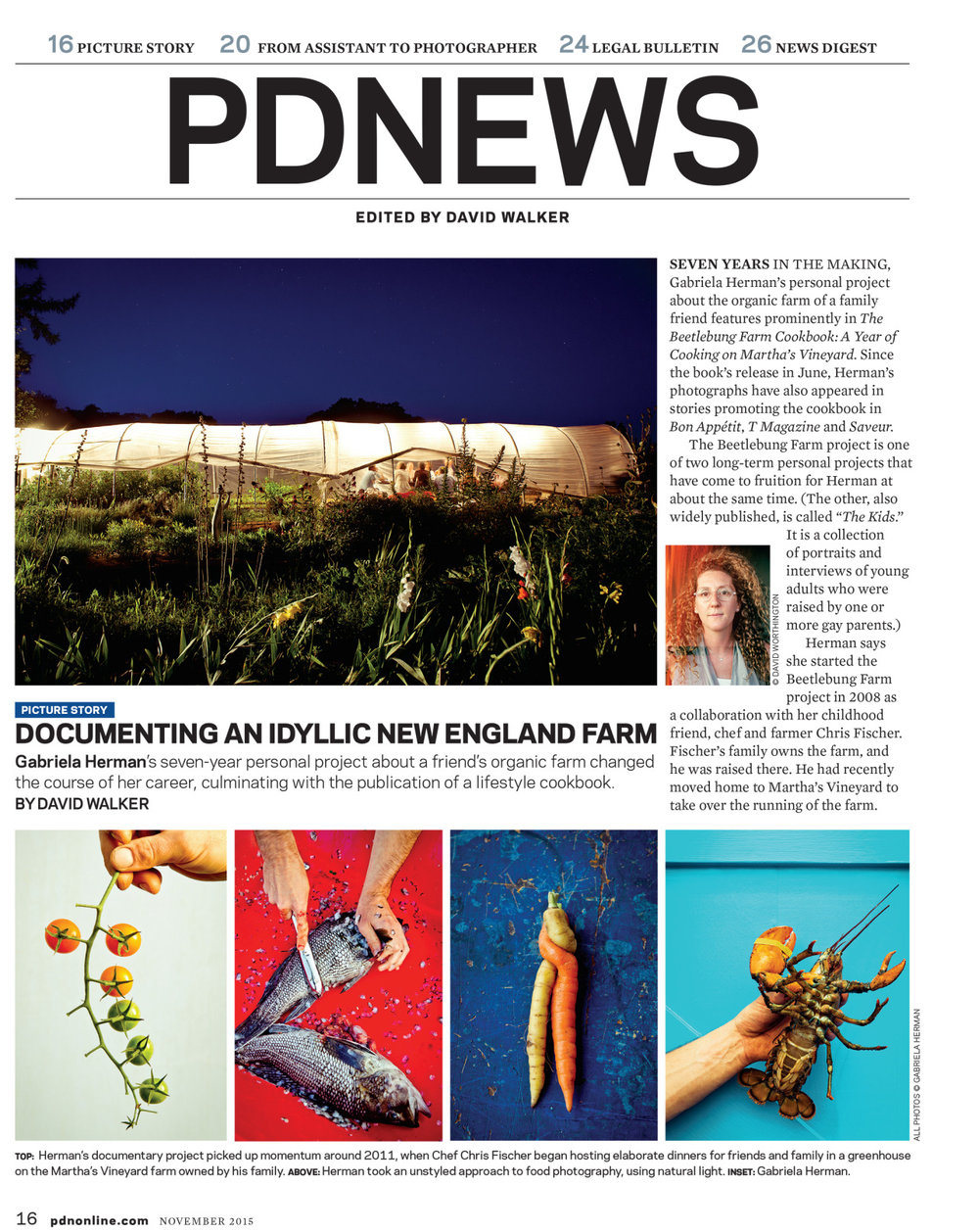 In this month's PDN I spoke with David Walking about my Beetlebung Farm project. Read the article here.