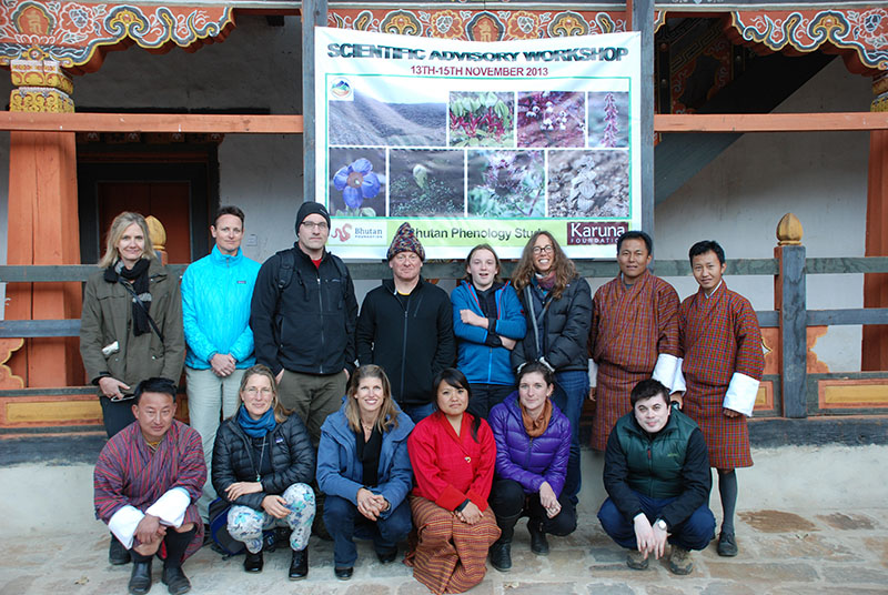 The Karuna Foundation Board and the HEROES team in 2013 at UWICE's campus in Bumthang, Bhutan.