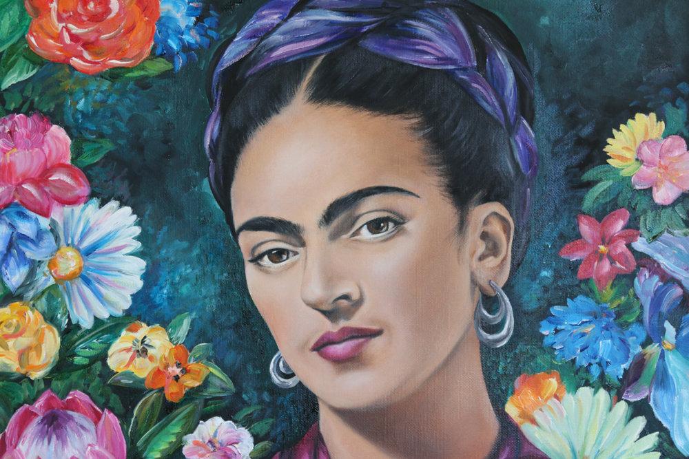 Frida Kahlo Oil Painting - Zoe Wood 2017