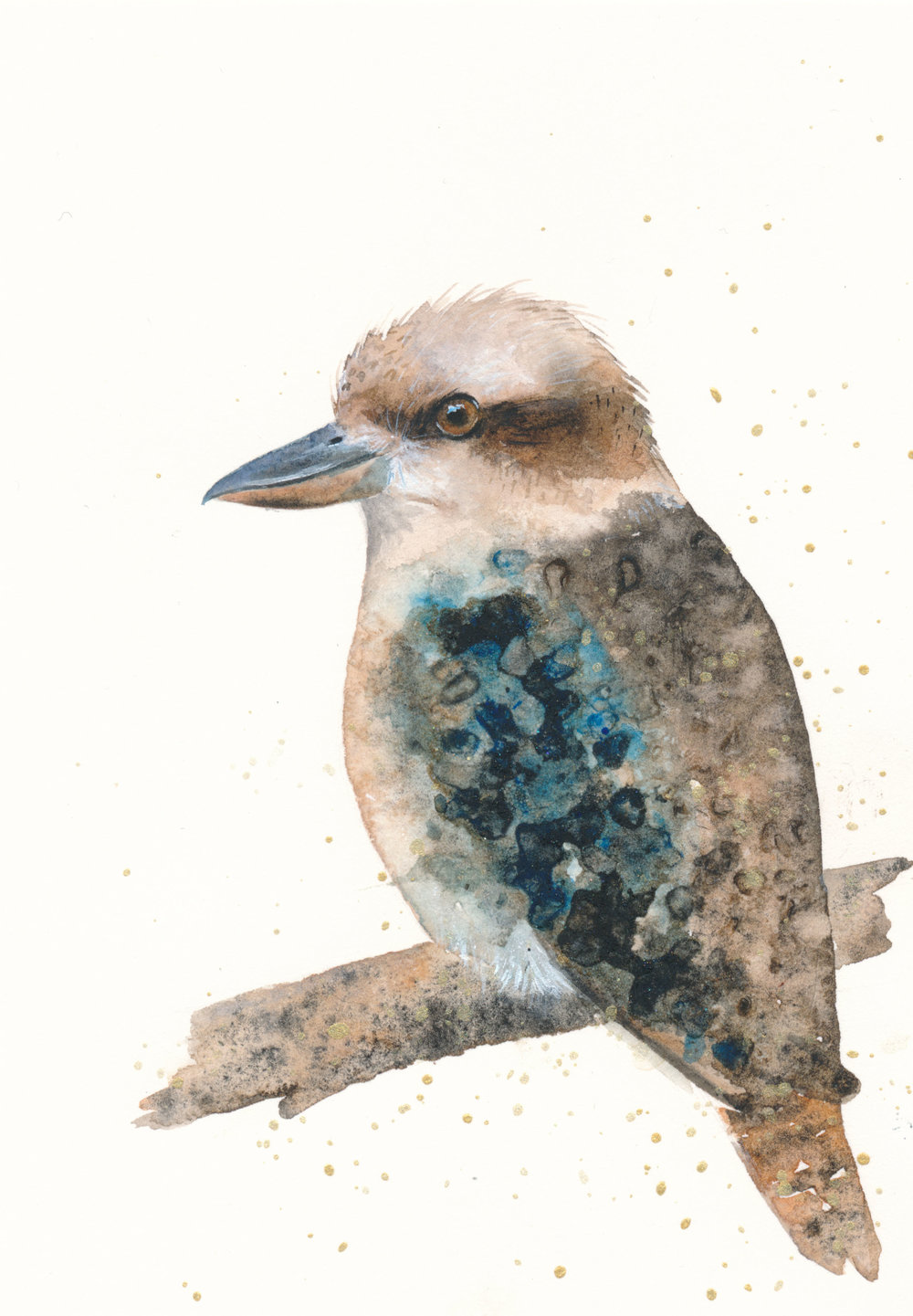 Kookaburra Watercolour Zoe Wood 2017