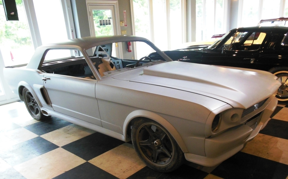 "1965 Mustang Pro touring color changed to a 2011 Corvette color: ""Sheer Silver."""