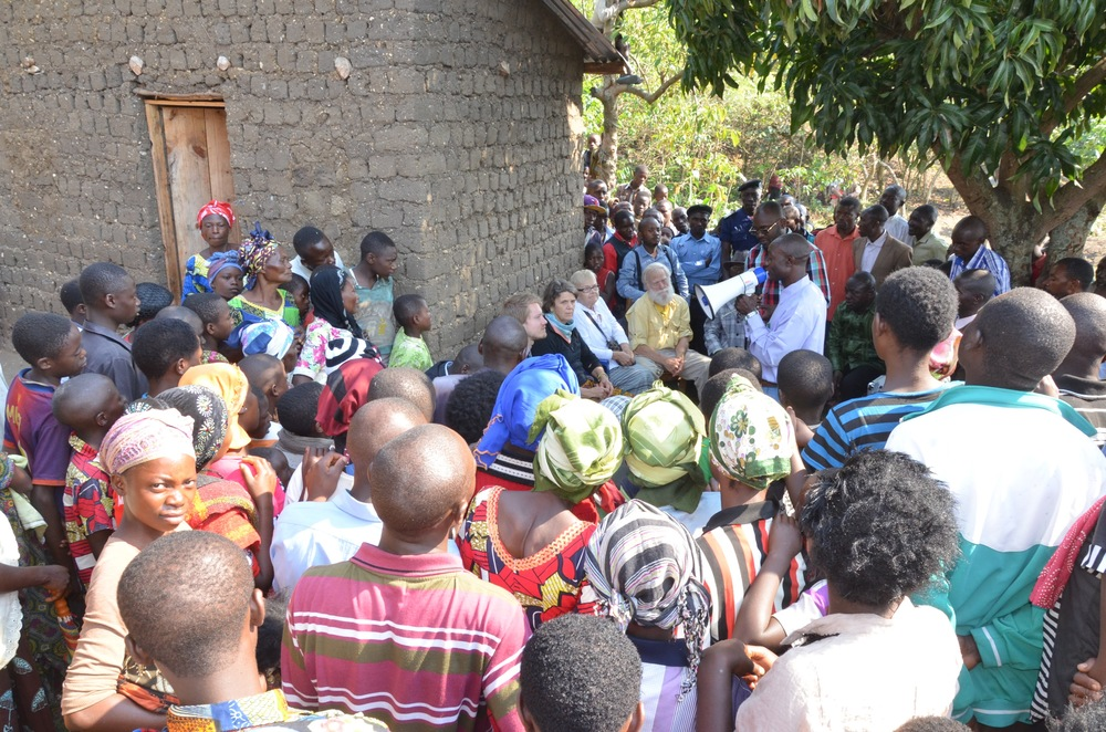 Our delegation speaking with people of Idjwi Island during our visit