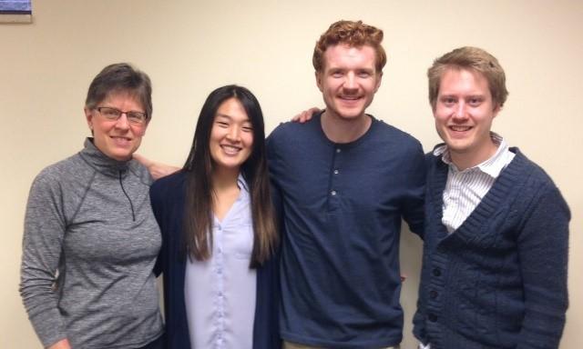 Current board members Liz Andress, Keira Kim, Luke Jerviss & Peder Garnaas-Halvorson