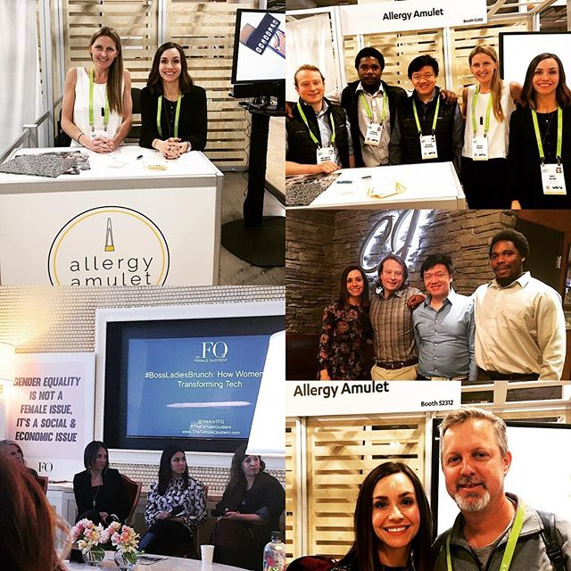 That's a wrap on my first year @cesofficial. So much amazing #tech, and people genuinely excited to innovate. Time to go 🏡 to see my 👶! . . . #ces2018 #womenintech #foodallergies #healthtech