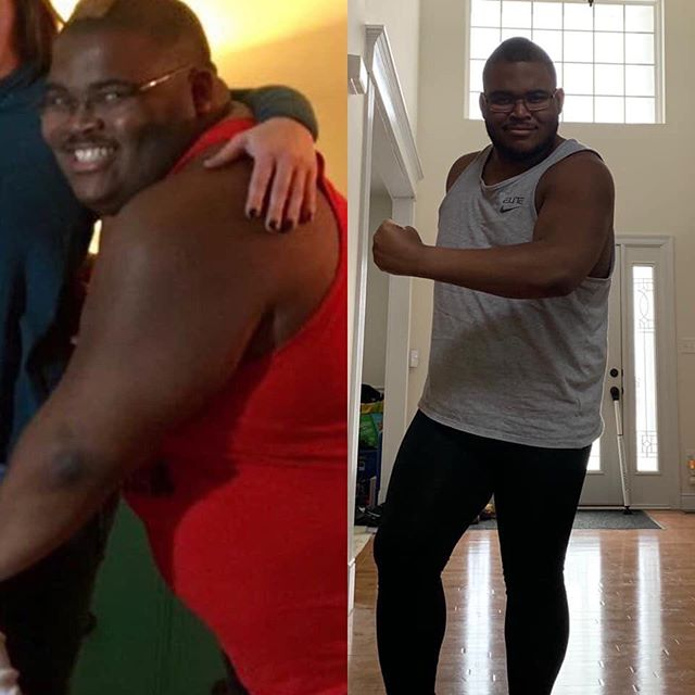 """Have you ever lost site of taking care of yourself only to suddenly wake up wondering, """"how did I get here?"""" Jam with Cam instructor (Wednesday 9am, Friday 6pm, Sunday 10am) @cldoogan , had one of those moments and has been going through a major transformation and has recently lost 100lbs! Here's his story 💚 """"On the left was almost two years ago. I was in recovery from an injury that benched me from doing what I love—dancing. From there I had succumbed to the lack of air and light making the abyss my home where things were not what they used to be. I felt alone and purposeless and somehow ended up weighing 360 pounds due to comfort coming from foods that I loved but weren't filling the void in my heart. Fast forward to the present, day by day I'm rebuilding and learning more about myself than I ever imagined I would. Today, I am 260 pounds and now realize that self-care is just as important—if not more so—than the love you give to others. It took changes of my perspective, changes of what energies I let influence me in my life and a change of my outlook when it comes to food and exercise. The abyss will always be there but if you can climb the rocks one by one to bring yourself back up to the surface, I promise you'll be amazed by what you'll see. 🤗❤️Cheers to emotional, mental and physical health and the hard work and faith it takes to get there. It's a process, not an overnight success. 🙏🏾🙏🏾🙏🏾#weightloss #selfcare #100pounds #dontstopgetitgetit #theprocess #fitness #lesmills #bodyjam #dancefitness #foodtracking #beforeandafter #JustDudas #DudasFitness #iamarete #areteaccelerator #aretesyndicate"""