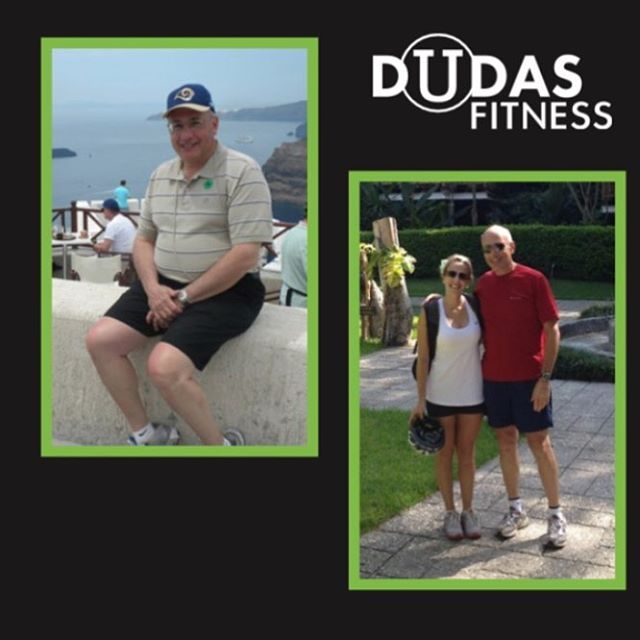 """""""Nicole helped me lose 60 lbs and keep it off. I now realize it was Nicole's expertise, experience encouragement and support that made it so easy."""" Be like Harry! #justdudas #dudasfitness #fitspiration #justdoit #areteaccelerator #stltrainer #stlpersonaltrainer #personaltraining #fitness #iamarete #aretesyndicate #arete #fatloss #weightloss #keepitoff #testimonial #transformation #loseweight #getinspired #fitnesstestimonial"""