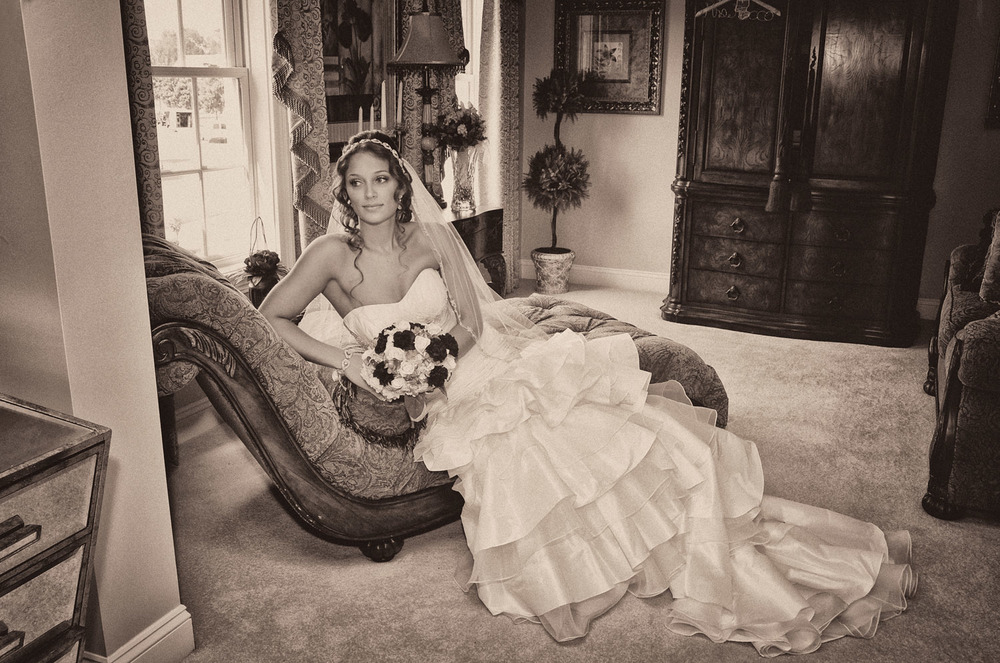reclining bride / Meyer Photography