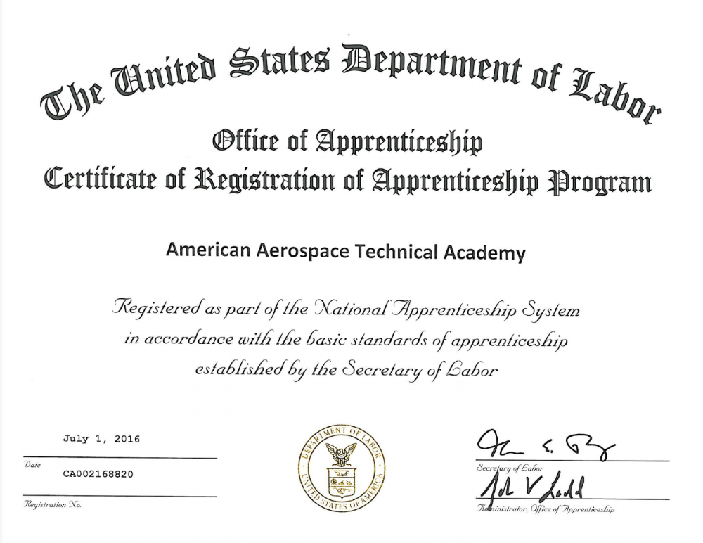 The future of AATA looks bright! It's official! Our NDT Apprenticeship Program has been approved by the Department of Labor's Office of Apprenticeship!