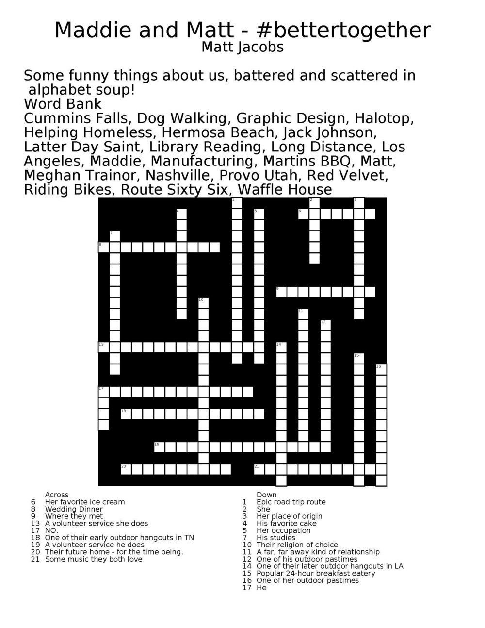 make your own crossword