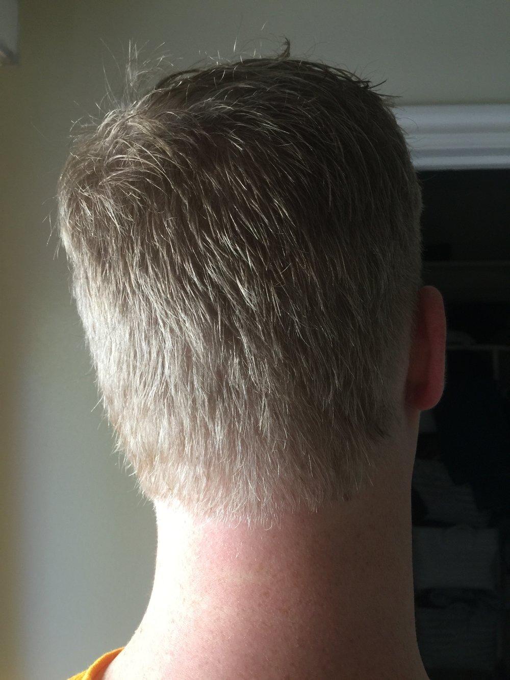 gave Matt a haircut!...