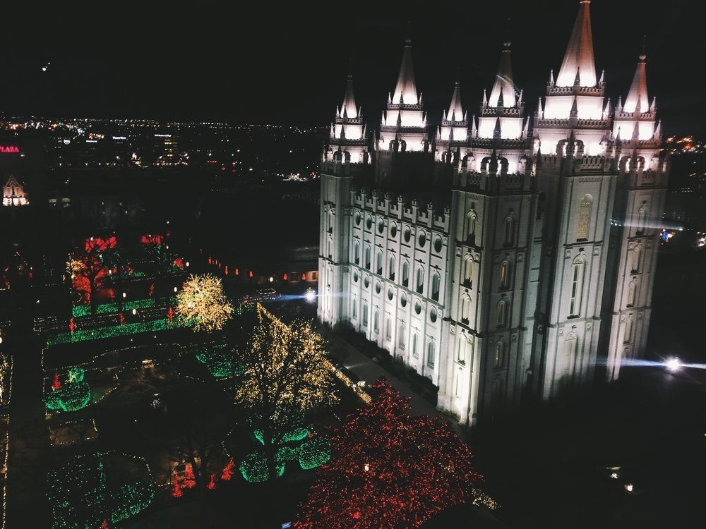 went to see the temple lights...