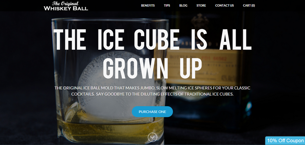 The Whiskey Ball is run on Weebly