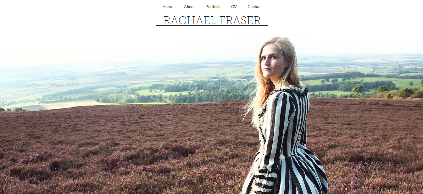 A personal website designed on Wix (for Rachael Fraser)