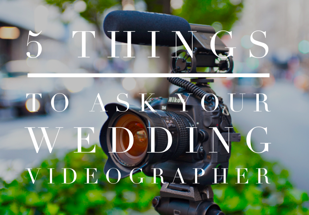 5 Questions to Ask Your Winnipeg Wedding Videographer
