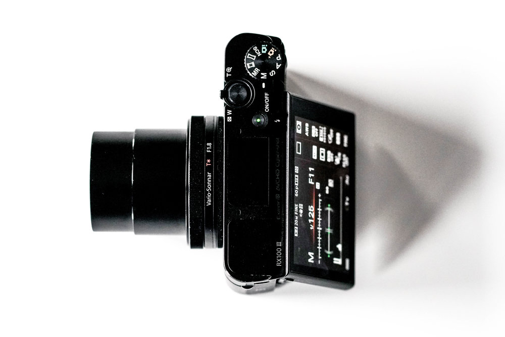 Sony RX100iii Top View