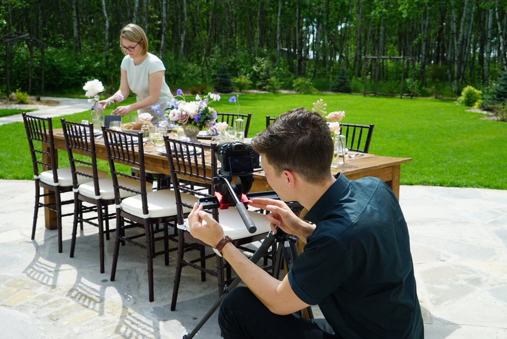 We partnered with Lauren Wiebe from Stone House Creative for a styled shoot out at Cielo's Garden.