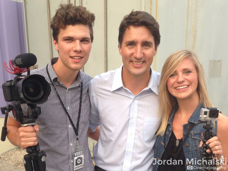 After a shoot with the Liberal Party of Canada, we had to take selfies with the future Prime Minister. We still laugh at Lauren holding up a GoPro and our baby faces.