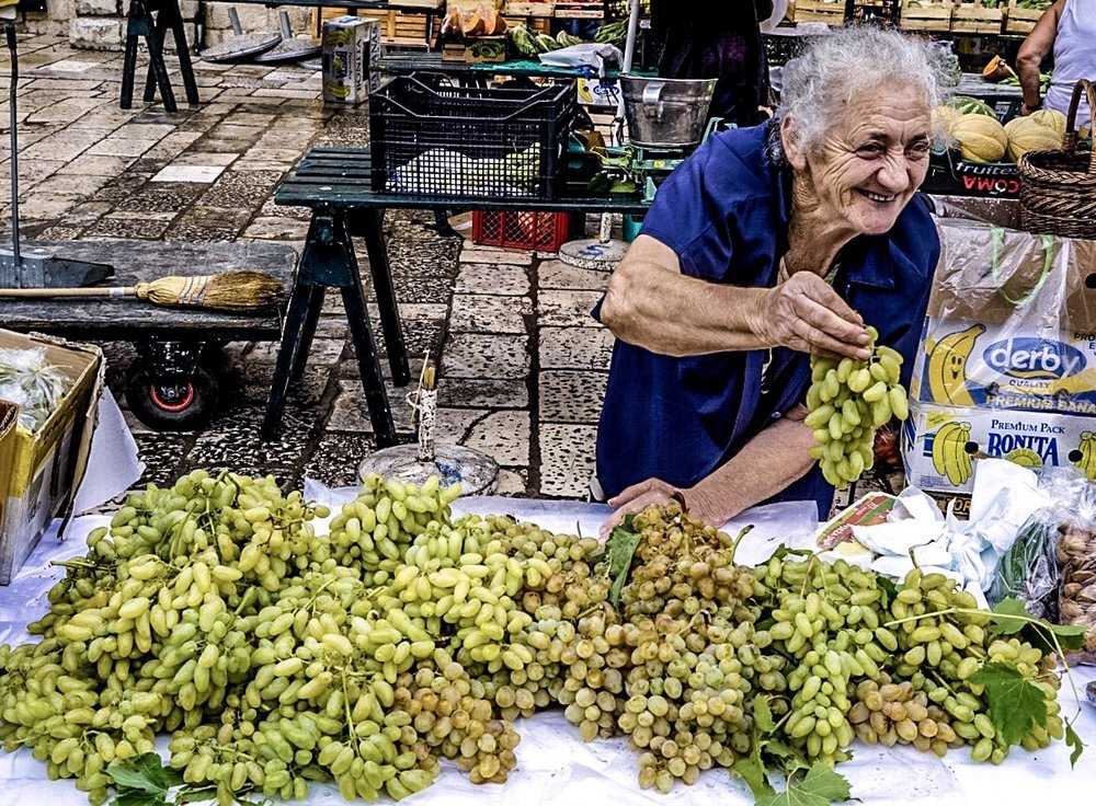 Grapes anyone? Dubrovnik, Croatia