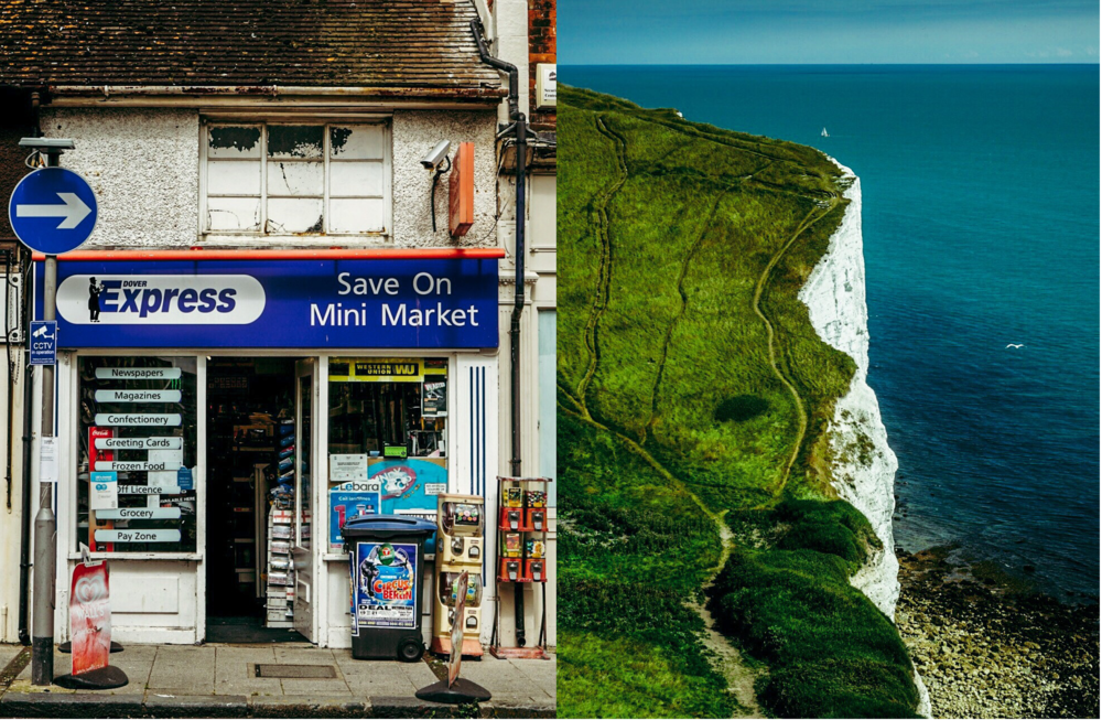 White Shops to White Cliffs Dover, U.K.