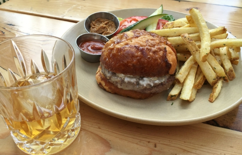 This week: Burger and a Bourbon $12  Cheese Curds $3   Sazerac $6