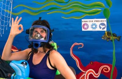Maeva at the World Ocean's Day 2015 photobooth