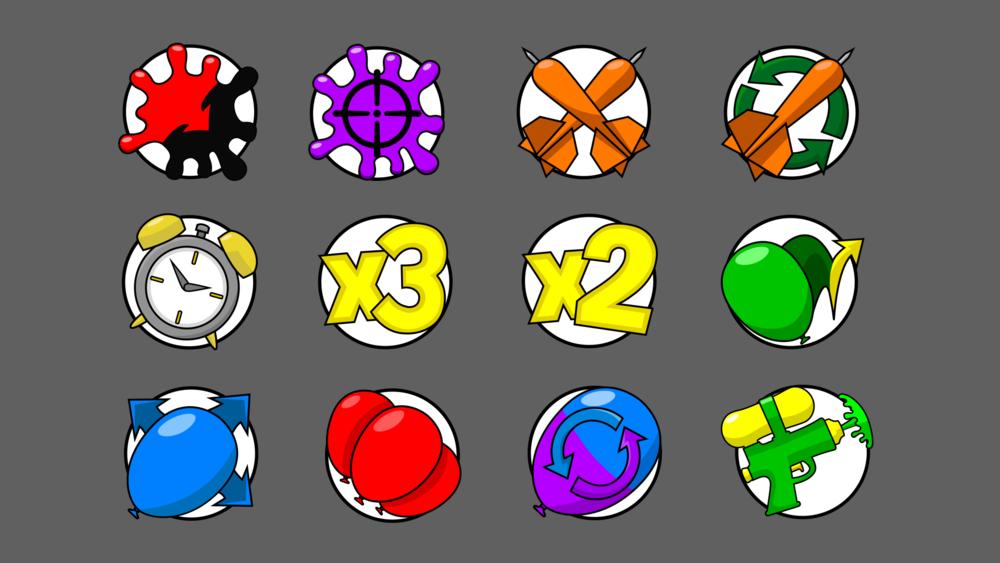 Kasplat powerup icons