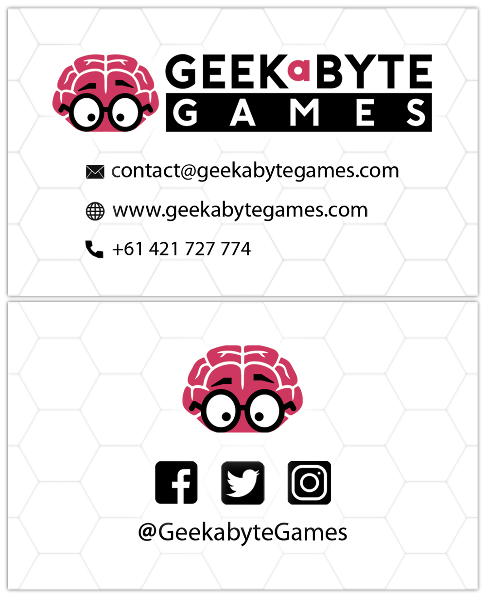 Geekabyte Games business card