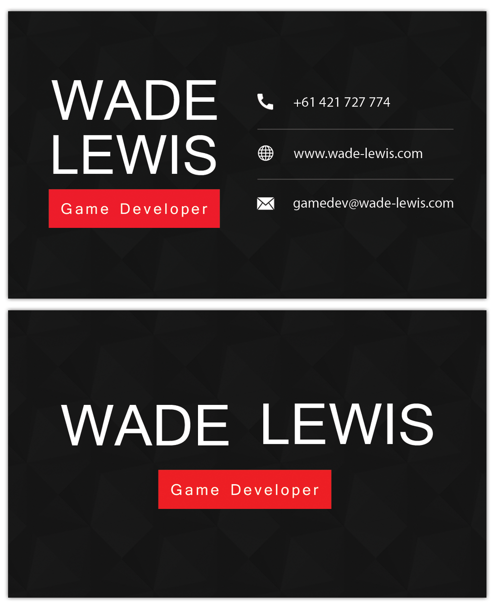 Wade Lewis business card