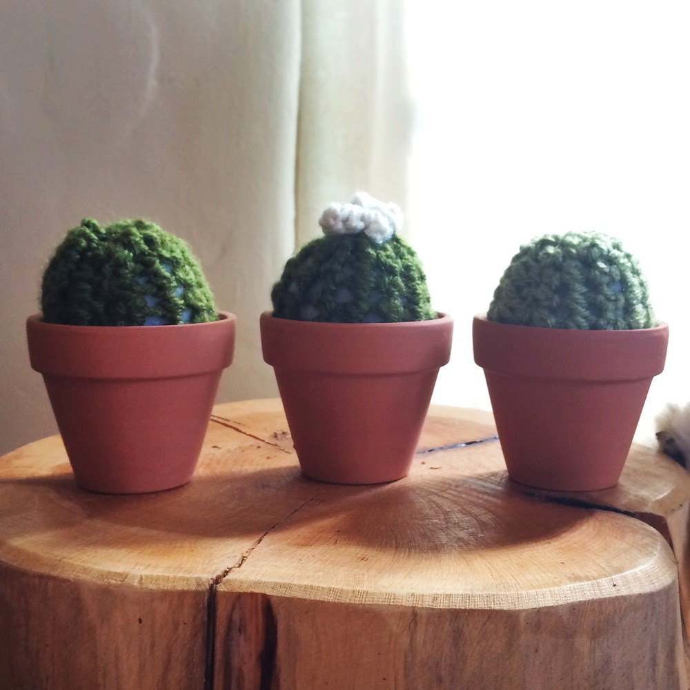 The theme of Lauren's baby room is greenery, air plants, and succulents. So how stinking adorable are these plush toy cacti from Shop Anneise!