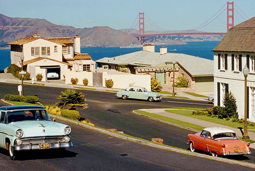 vintagegal :      Overlooking Golden Gate Bridge, San Francisco, 1956 by David Boyer ( via )