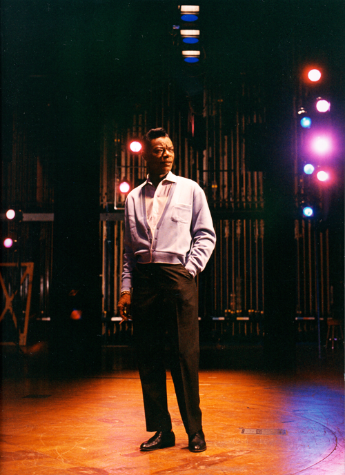 deforest :      Nat King Cole during a recording session at Capitol Studios, 1960s