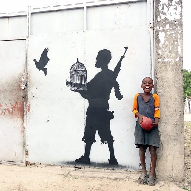 autopsi-art :      Peace unleashed de  Goin  (Matonge, Kinshasa, RD Congo)