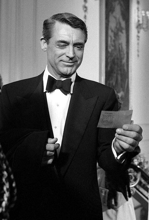 Cary Grant in London, 1957.