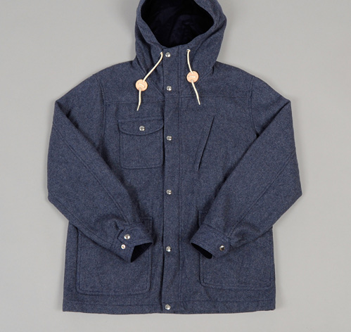 streetstylemarket :     MELTON WOOL TRAVEL SHELL PARKA