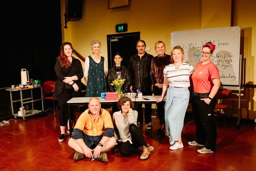 Back Row:  Genevieve Davidson, Joanne Davis, Izabella Yena, Darius Kedros, Rebecca Lister, Zoe Ellerton-Ashley. Front Row:  Michael Treloar, Hallie Shellam