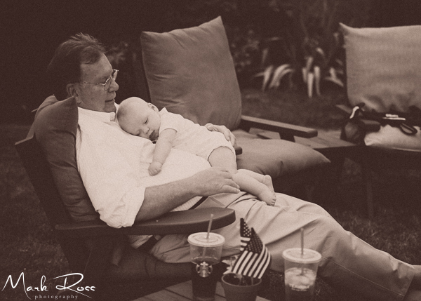 William with his grandfather.