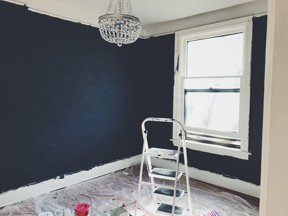 Bedroom is coming along! #denverabbey