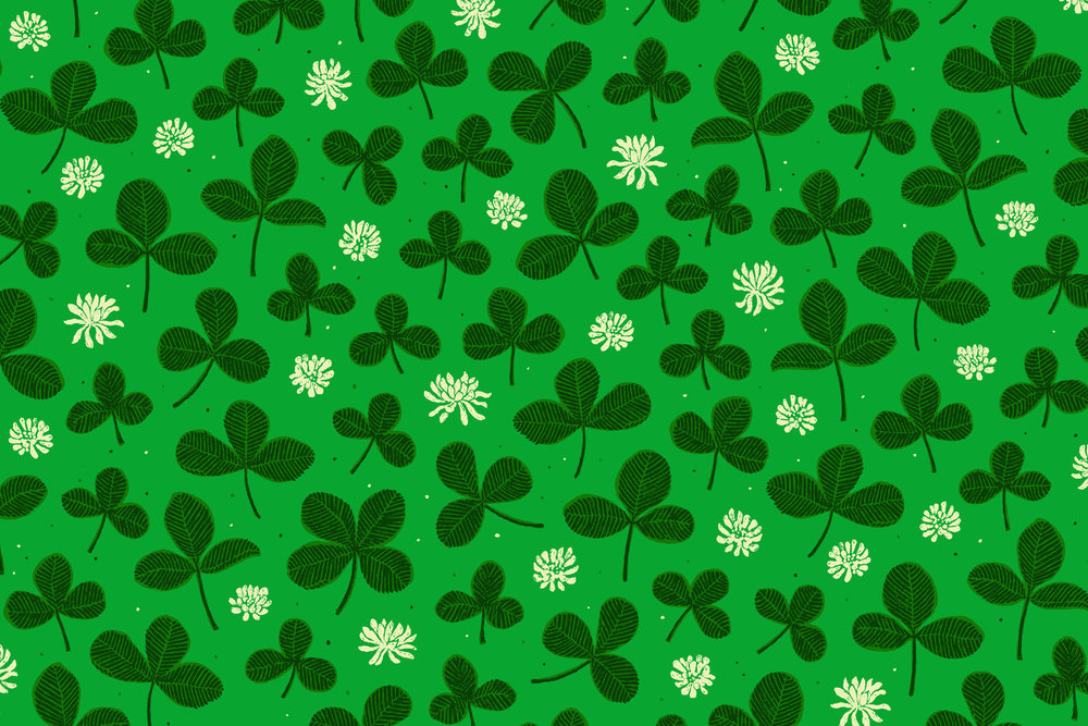 Lucky Clover Leaves  with just one 4-leaf clover was added to the base tile for good luck.