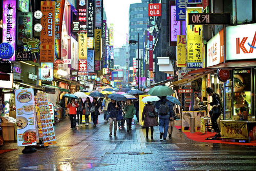 The Night Market is filled with food, activities, and art in Seoul, Korea.