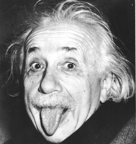 Who would think this crazy guy was a genius?