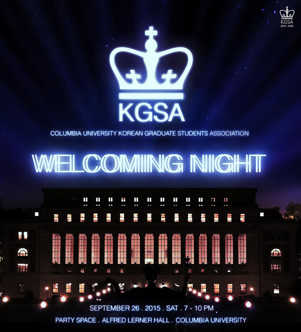 WELCOMING NIGHT: 신입생 환영회 (9/26/2015)