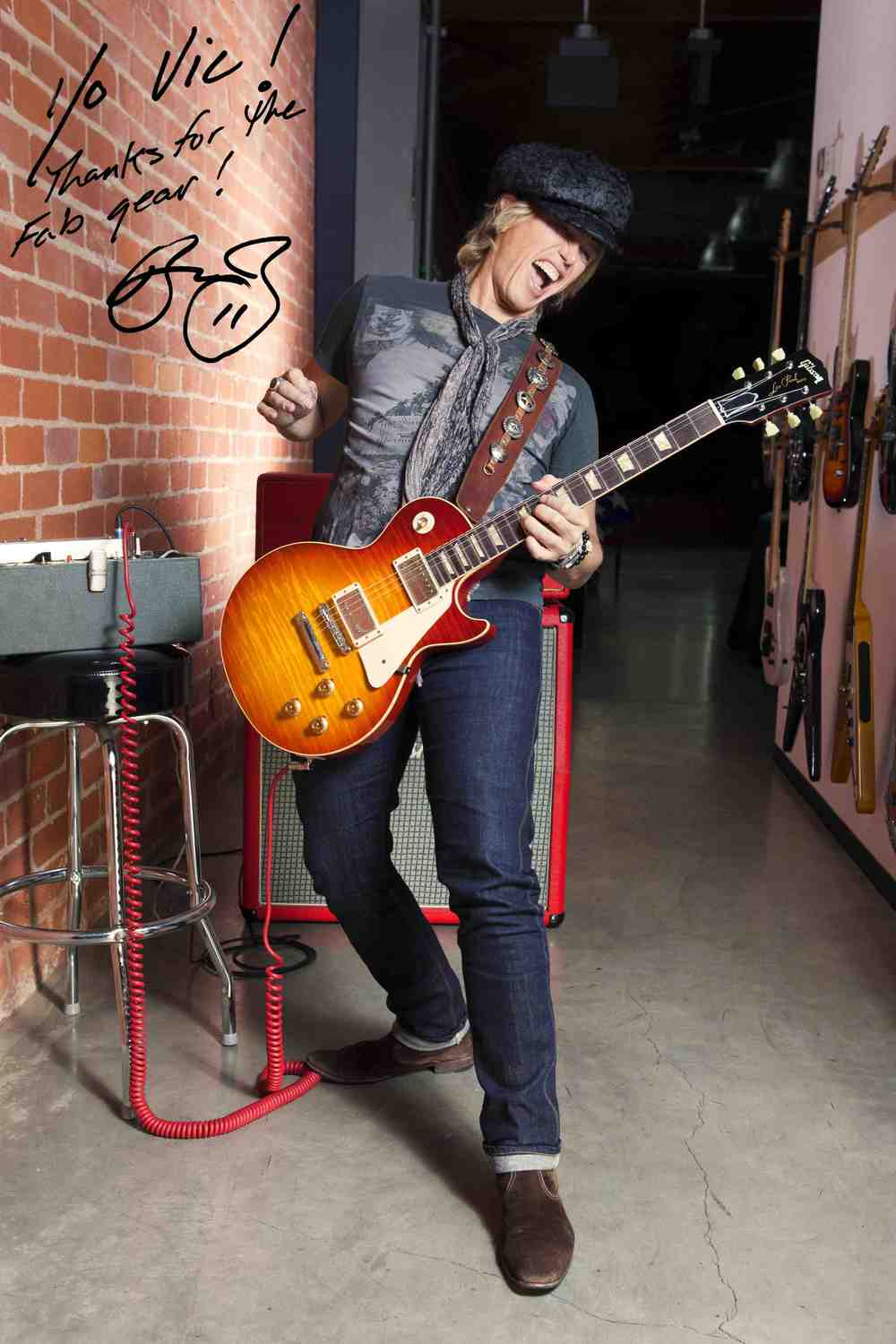 Sir Paul McCartney's Guitarist Brian Ray with his Carmel Fade 59 Les Paul Burst by Vic DaPra
