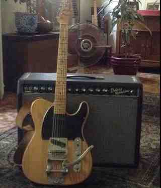1968 Fender Telecaster & 65' Deluxe acquired  in 1972 courtesy of Michael Latoski.jpg