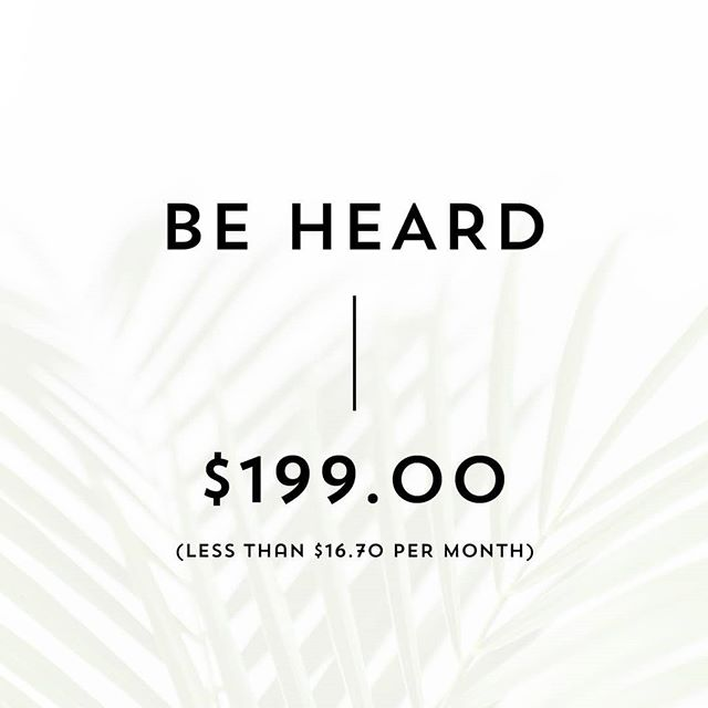 Be Heard is Karratha Collective's most popular package.  Offering a directory list, business profile, social media promotions, blog feature, participation in our Christmas giveaway and so much more. Use the link in our bio to find out more.